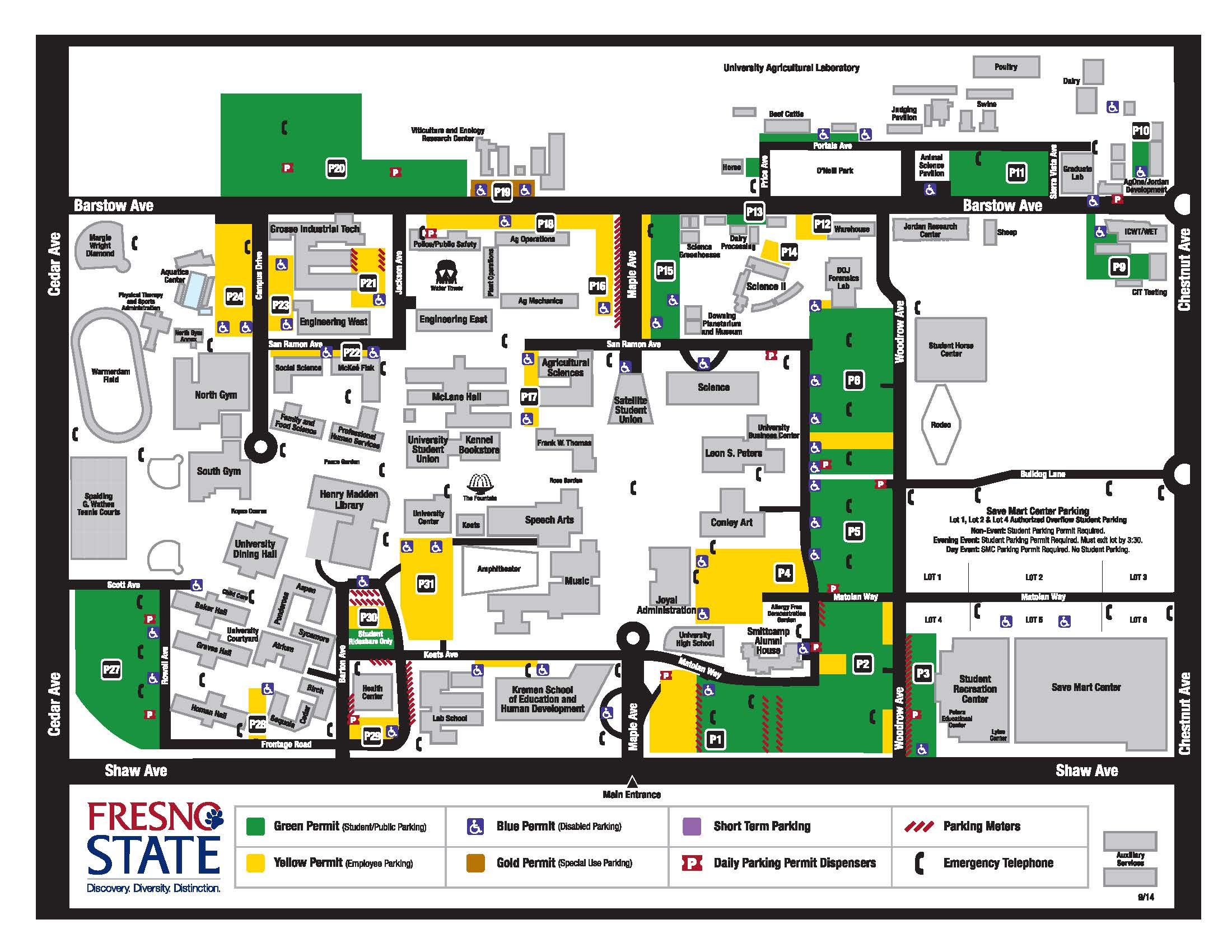 Fresno State Campus Map Facilities