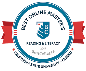 Best Online Master's Readying and Literacy Badge