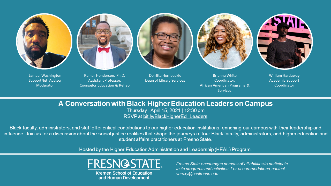 A Conversation with Black Higher Education Leaders on Campus