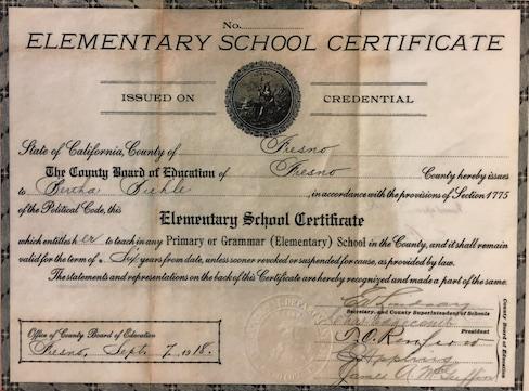 1912 Graduation Certificate